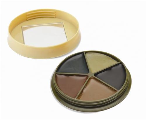 HME 5 Color Camo Face Paint Kit With Mirror - HME-CMOFP5